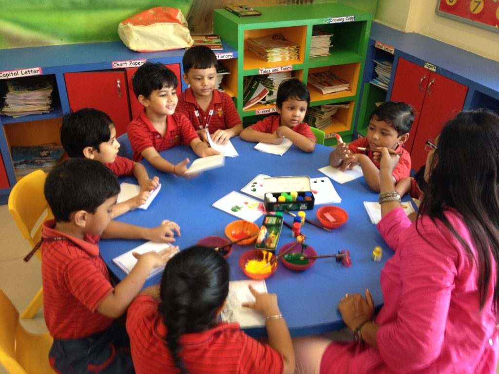 Multi-sensory learning technique used by Best Play school in Odisha,India